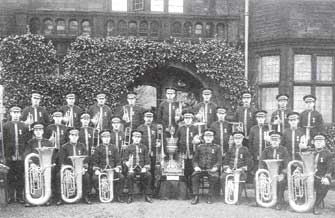 Black Dyke Mills Band after their 1928 win at the National Championships