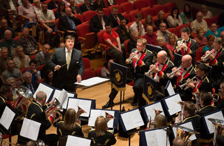 Black Dyke in action at Symphony Hall