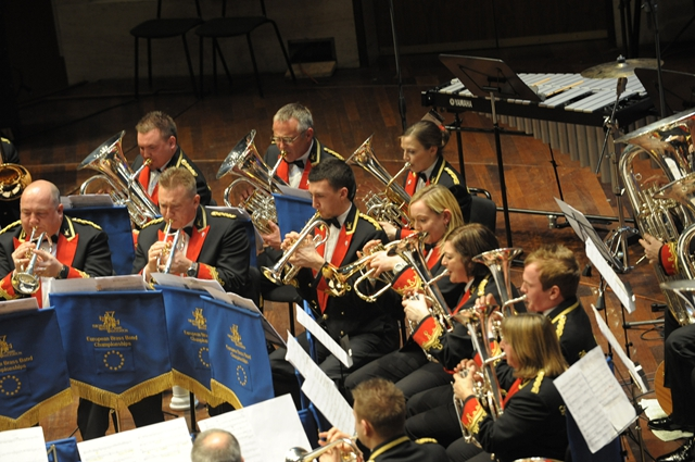 Black Dyke performing at the 2012 Europeans