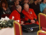 Stalwart listeners: The Chelsea Pensioners certainly