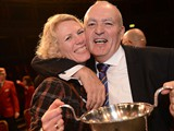 A very happy couple celebrate a seventh National success