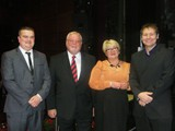 Adjudicators: Neil Samuel and Gareth Brindle with Contest Sponsors Brian and Jennifer Halliwell
