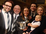 Championship Section: Winners - Tongwynlais Temperance -  The James Clan celebrate