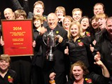 Section 4 - 1st Northop Brass celebrate their victory