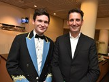 16. Woodfalls MD - Erik Janssen together with Soprano Cornet Paul Duffy backstage