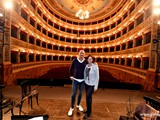 2016 Italian National Championship - Contest countdown on stage with Lito Fontana with his wife Mona