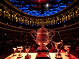 The National Final Trophy on stage