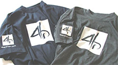 T-shirts - navy and charcoal colours shown